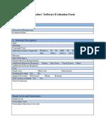 islanders evaluation form