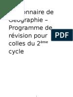 Dictionnaire de Géo, cycle II