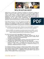 Ejemplo de Un Plan HACCP