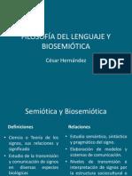 Filosofía Del Lenguaje y Biosemiótica