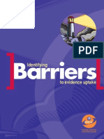 Identifying Barriers to Evidence Uptake