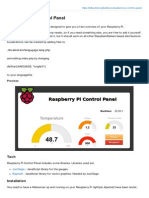 Raspberry Pi Control Panel