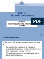 Introduction of Organizational Studies w1