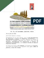 Circular 002 Ponentes y Resúmenes Aceptados XV Encuentro Iberoamericano