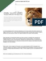 Lo que trae el Sistema Operativo de Apple Mac Os X Lion