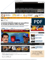 La Prensa Chavista Exagera en Sus Gráficos La Ventaja de Maduro Sobre Capriles - ANTENA 3 TV