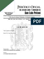 Codigo Penal de San Luis Potosi, México