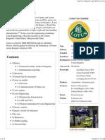 Lotus Cars - Wikipedia, The Free Encyclopedia
