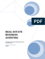Auditing of Real Estate Business