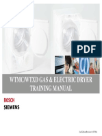 WTMC WTXD BOSCH Siemens Gas and Electric Dryer