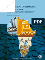 Enhancing Resource Allocation to Urban Development in Africa