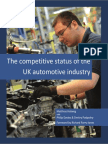 The Competitive Status of the UK Automotive Industry