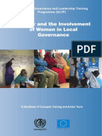 Gender and Involvement of Women in Local Governance