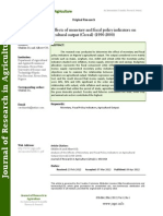 Analysis of the Effects of Monetary and Fiscal Policy Indicators On agricultural output (Cereal) (1990-2000)