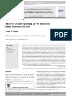 Analysis of Slabs Spanning