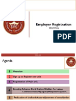 Employer Emplaaoyee Registration Through Portal