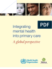 WHO Report Integrating MH into Primary Health Care
