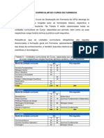 Matriz Curricular Do Curso de Farmacia