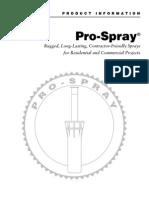 Hunter Pro Spray Sprinkler Owners Manual