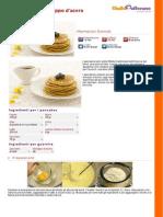 Pancakes Allo Sciroppo d Acero