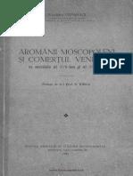 Aromânii Moscopoleni Şi Comerţul Veneţian În Secolele Al XVII-lea Şi Al XVIII-lea