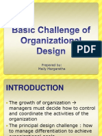 Basic Challenge of Organizational Design Meily