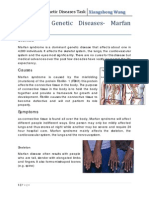 Dominant Genetic Diseases Morfan Syndrome
