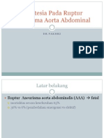 Anestesia Untuk Ruptur Aneurisma Aorta Abdominal