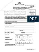 BHMUS Application Form