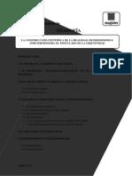 Tema 10 Construcción Científica de La Realidad. Determinismo e Indeterminismo Postulado de Objetividad