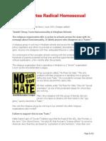 ADL Promotes Radical Homosexual Agenda