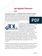 ADL Campaign Against Tolerance