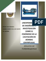 Laboratorio de Cavitacion 2013
