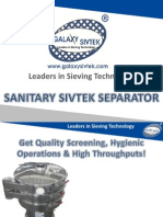 Get Quality Screening, Hygienic Operations & High Throughputs with Vibro Sifter