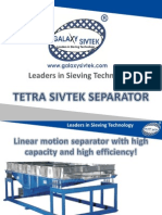 Linear motion separator with high capacity and high efficiency!