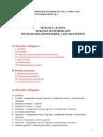 Tematica Licenta BIM 2009 360 Credite