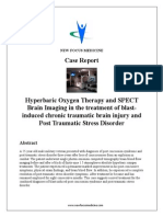 Hyperbaric Oxygen Therapy and SPECT Brain Imaging in the treatment of blast-induced chronic traumatic brain injury and Post Traumatic Stress Disorder