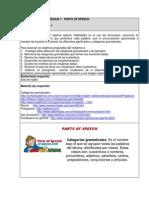 Actividad de Aprendizaje 1 Parts of Specch Sistemas Cipl