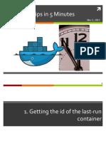 15 Docker Tips in 5 Minutes