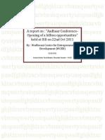 Aadhaar Conference a Report