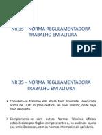 Nr 35 – Norma Regulamentadora Trabalho Em Altura