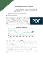 2- Tarea - Variables Macroeconómicas de Guatemala.