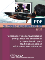 Funciones de Físicos Médicos Clínicamente Capacitados