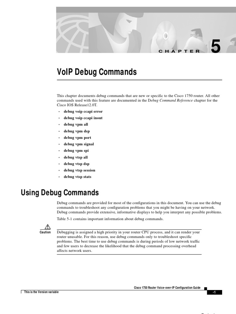 5- VoIP Debug Commands | Digital Signal Processing | Debugging