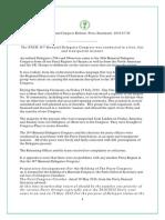 PNCR Press Statement - 30 July 2014