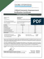 Integr8 IT BEE Certificate 2014