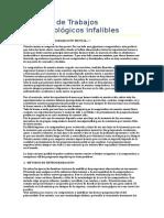 Extracto de Trabajos Parapsicológicos Infalibles