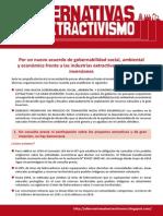 201103 Propuestas SC AlternativasExtractivismo