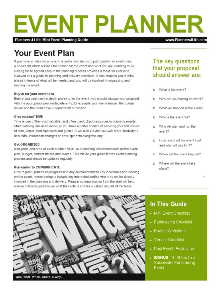 mini event planning guide fundraising advertising