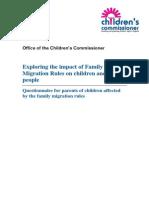 Children's Commissioner Questionnaire